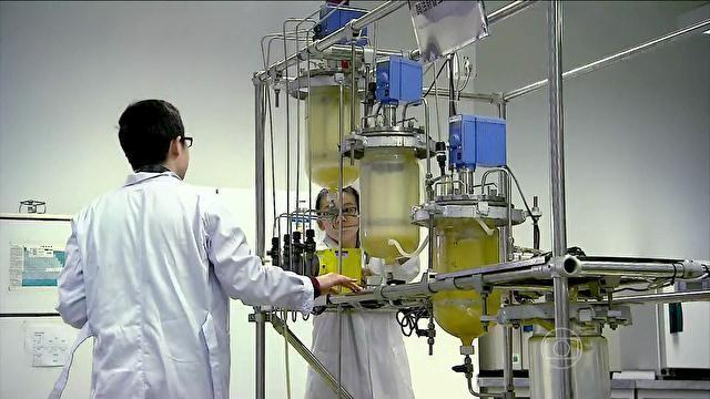 O biodiesel é produzido através de uma reação química