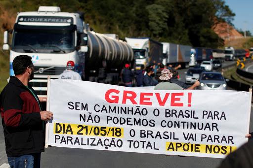 Greve dos caminhoneiros em 2018 afetou a economia brasileira.